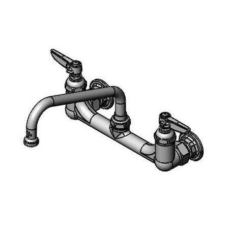 T&S B-2414 B-230 Sink Mixing Faucet, 8 in Swing Nozzle