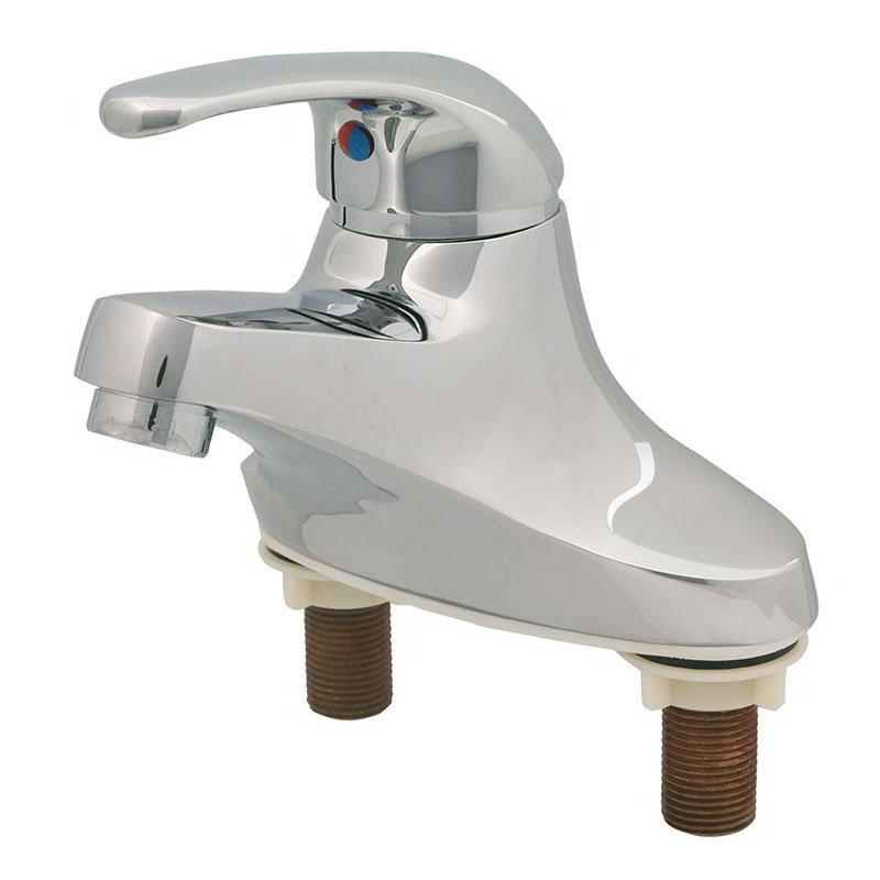 T&S Brass B2711 Lavatory Single Lever Faucet, 4 in Centerset