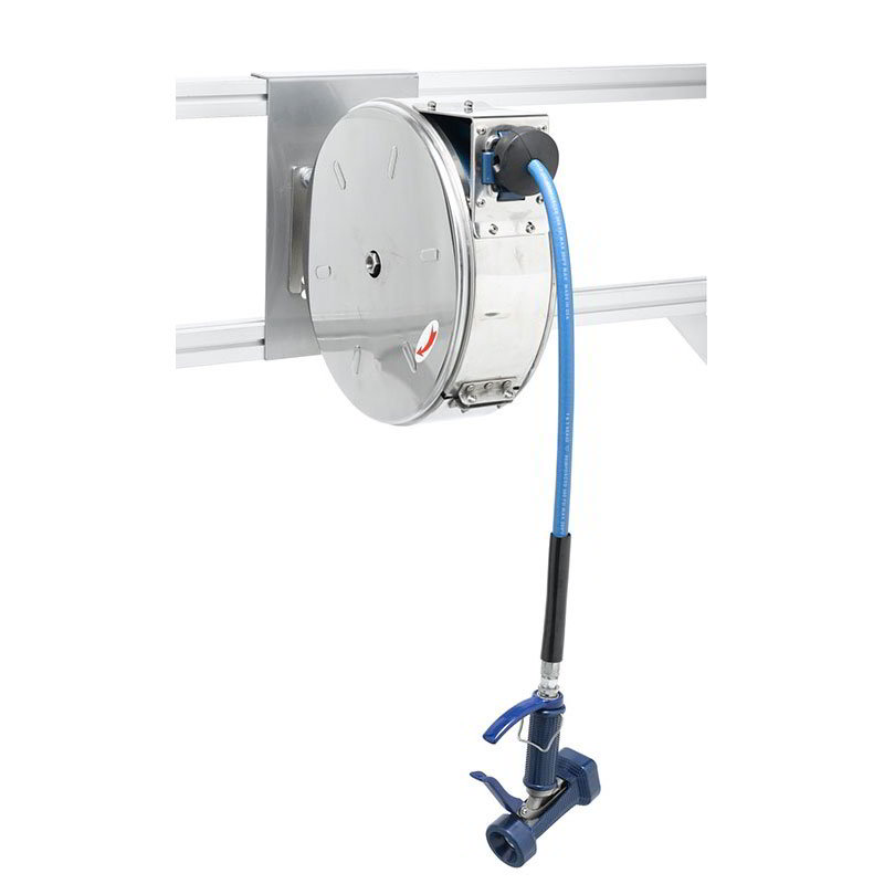 T&S B-7122-C05 Enclosed Hose Reel w/ 30-ft Hose & Front Trigger Water Gun