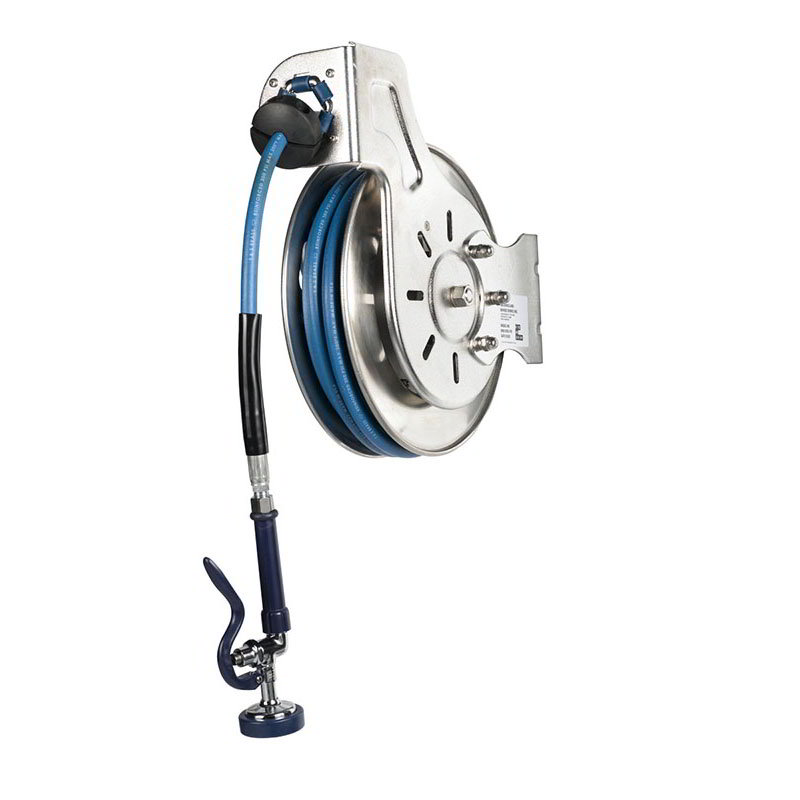 "T&S B-7132-01 Hose Reel, 35' Hose, Open, 3/8"" ID, Stainless"