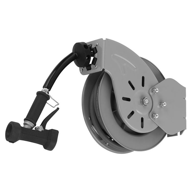 T&S Brass B-7212-02 Open Hose Reel w/ 15-ft Hose & Rear Trigger Water Gun