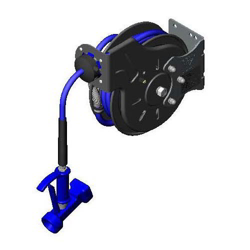 T&S B-7212-05 Hose Reel , Open, Epoxy Coated Steel, 15 ft Hose, ABS Drum, Water Gun