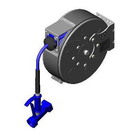 T&S B-7222-C05 Open Hose Reel w/ 15-ft Hose & Front Trigger Water Gun