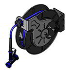 "T&S B-7242-02 Open Hose Reel w/ 50-ft Hose, 3/8"" ID & Rear Trigger Water Gun"