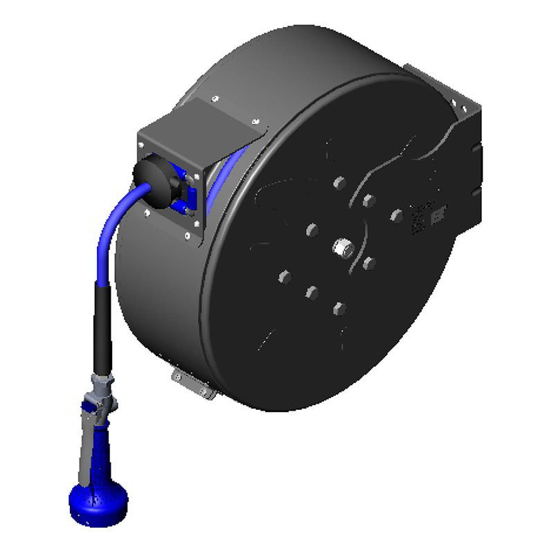 "T&S B-7242-C08H Hose Reel, 50 ft, 3/8""Diameter, High Flow Valve, Epoxy Coated Steel"