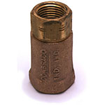 T&S Brass BCVV12 Check Valve, 1/2 in Vertical, Designed For Water Use Only