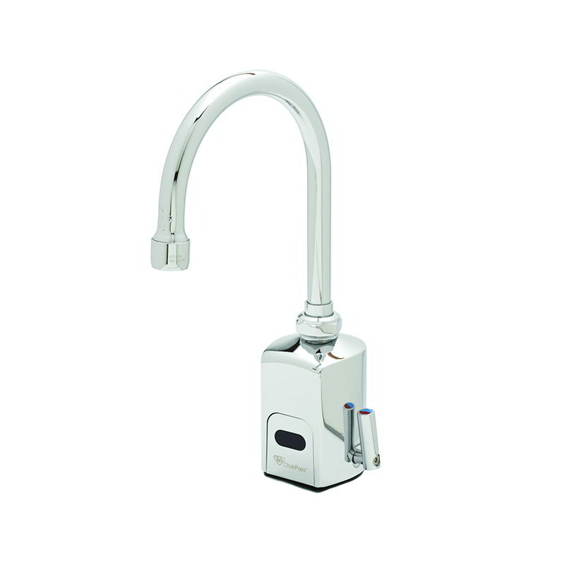 T&S EC-3130 Electronic Faucet, Deck Mount, Single Hole, Swivel/Rigid Gooseneck