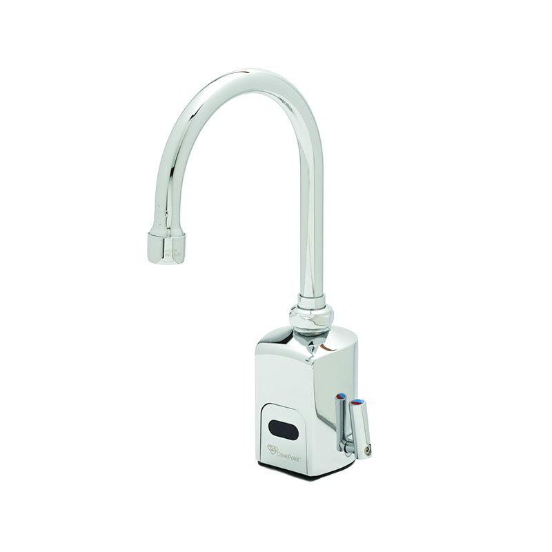 T&S EC-3130 Electronic Faucet, Deck Mount, Single Hole, Swivel/Rigid Gooseneck, 100-240v/1ph