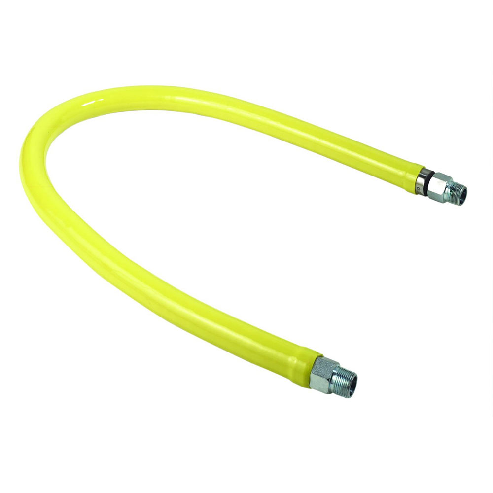 "T&S HG-2D-24 24"" Gas Connector Hose w/ 3/4"" Male/Male Couplings"