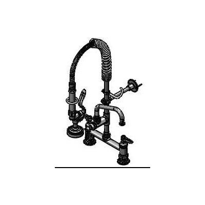T&S Brass MPZ-8DLN-06 Mini Prerinse Unit 8 in Deck Mount Lever Handle 6 in Faucet Restaurant Supply