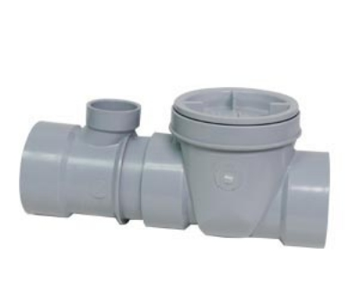Canplas 3934150AT Threaded Format Flow Control w/ Fittings, Cleanout & Air Intake, 50-GPM, 4-in