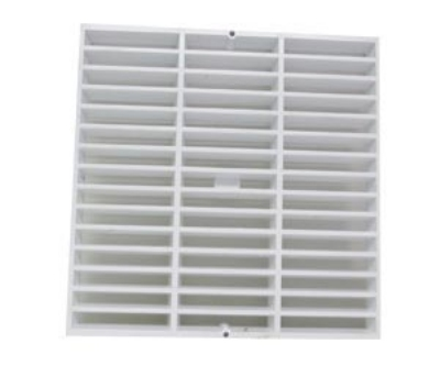Canplas 394712A Full Grate, Light Weight, Durable, Corrosion & Chip Resistant, 12x12