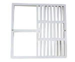 Canplas 394709C Half Grate, Light Weight, Durable, Corrosion & Chip Resistant, 9x9