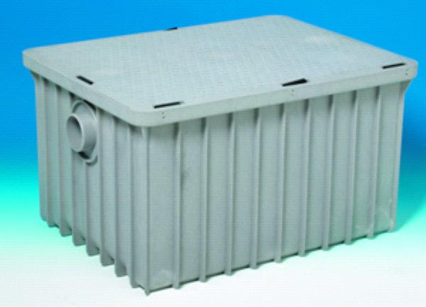 "Canplas 3925ALT03 Grease Trap w/ 3"" Connection, 25-Gal/Min, Thermoplastic"