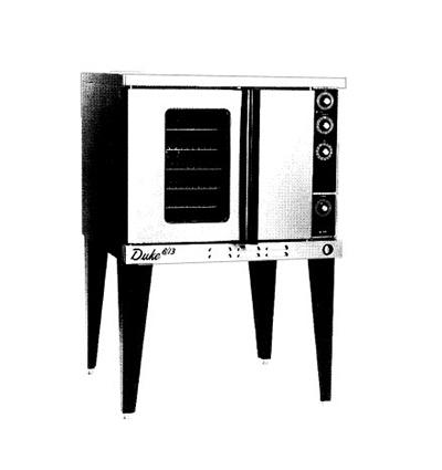 Duke Ovens 613-G3V Deep Depth Convection Oven Mech. Thermostat NG Restaurant Supply