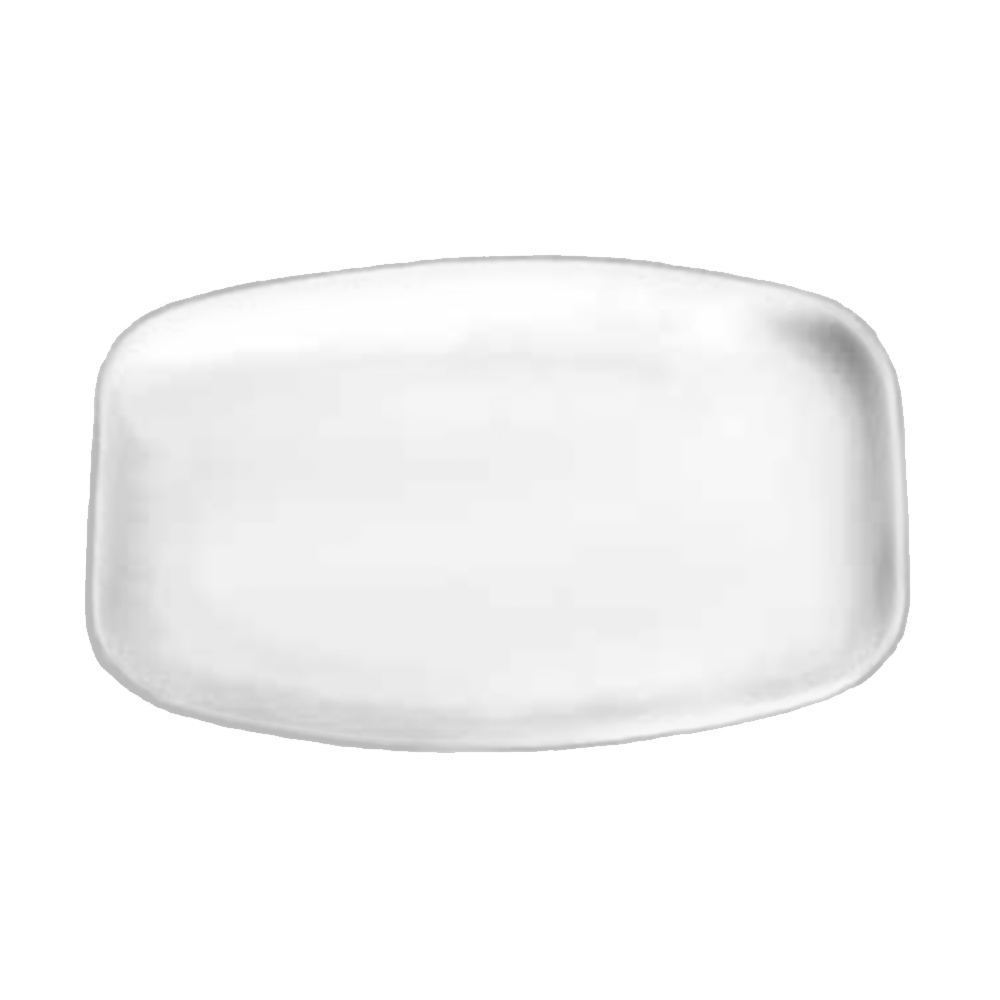 "Tomlinson 1006394 Rectangular Serving Platter, 10-7/8 x 15-1/4"", Frosty Finish"