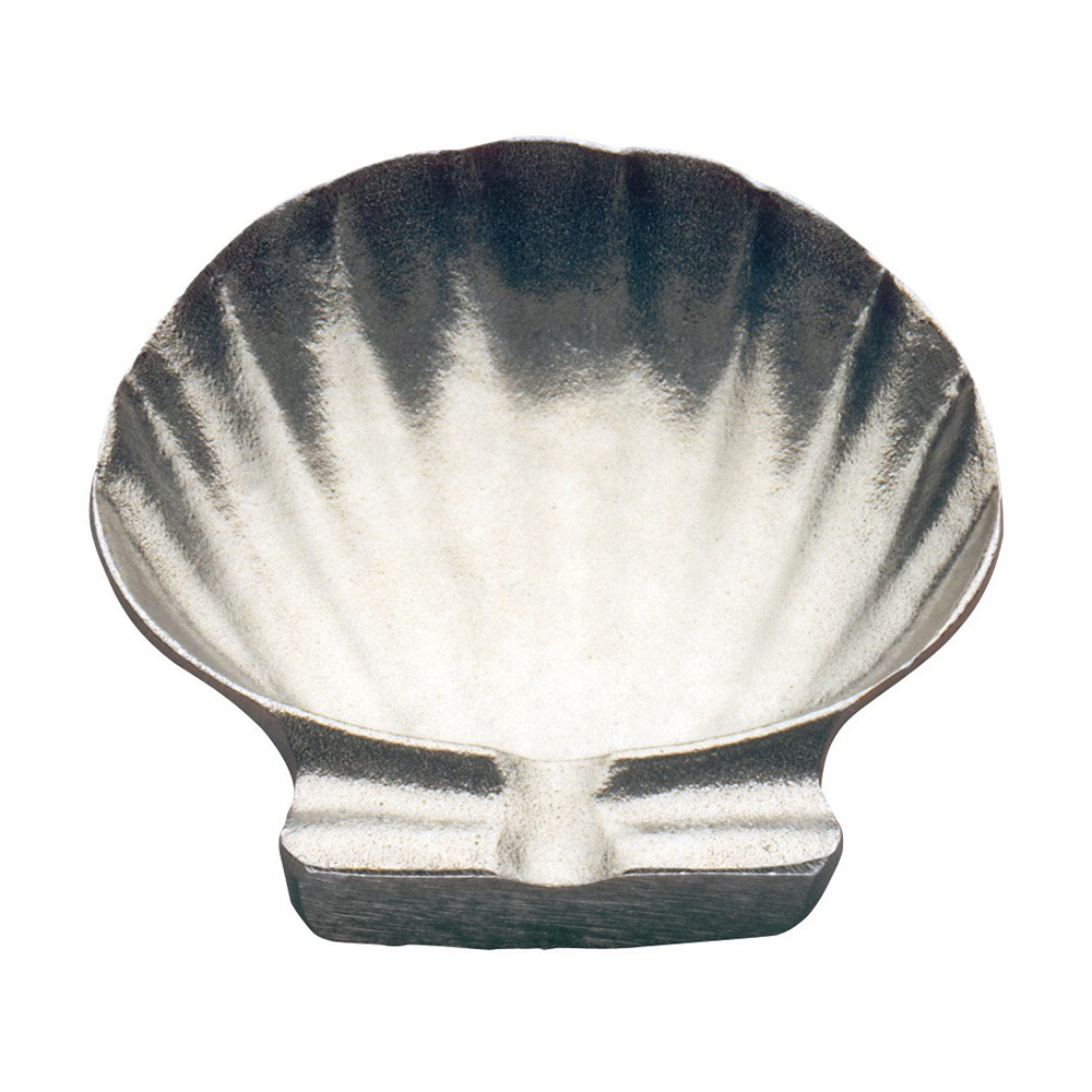 "Tomlinson 1006423 Bake-N-Serve Dish, Shell Design, 5-1/4"", Burnished Finish"