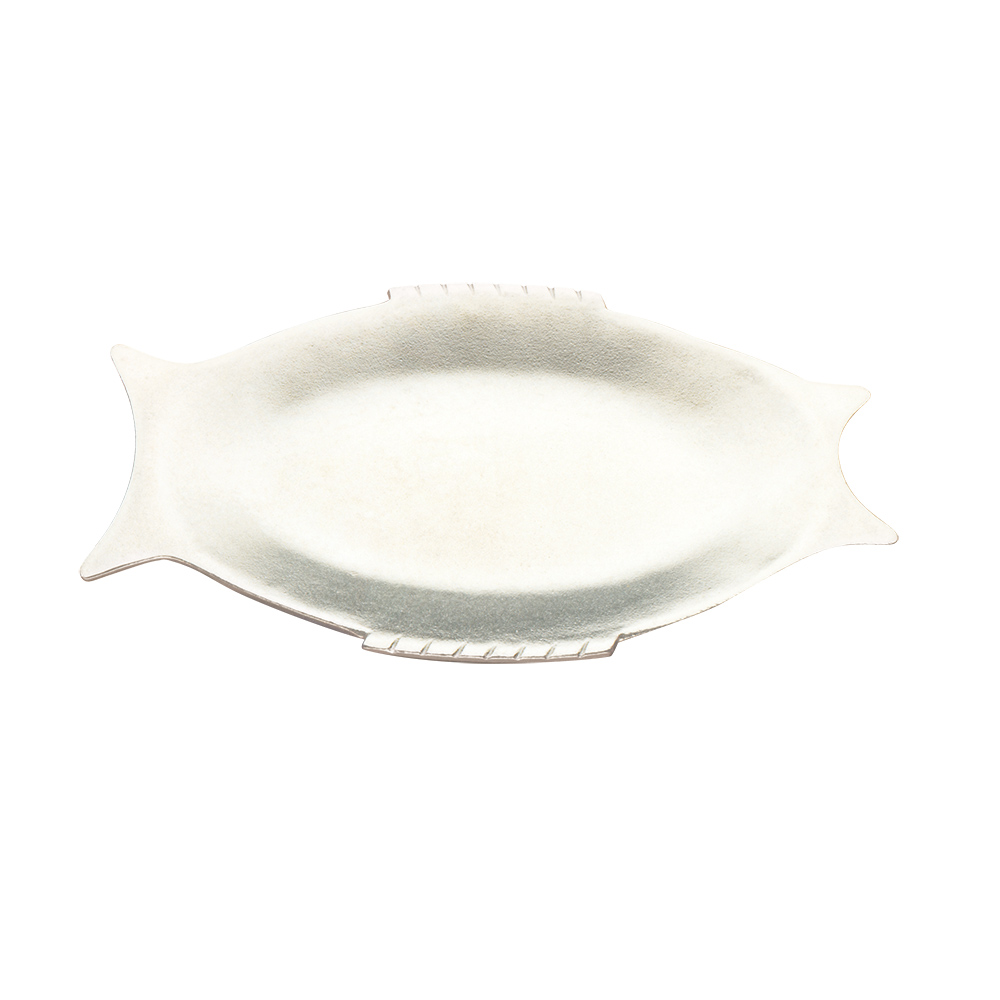 "Tomlinson 1006429 Fish Design Dinner Platter, 8 x 13"", Burnished Finish"