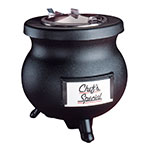 Tomlinson 1006846 BLK 8-qt Deluxe Frontier Soup Kettle w/ Transport Collar, Black, 120 V