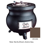 Tomlinson 1006856 BRN 12-qt Deluxe Frontier Soup Kettle w/ Stainless Inset, Brown, 120 V