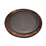 Tomlinson 1016244 Round Serving Griddle Underliner For RP-18, Birch, Walnut Finish