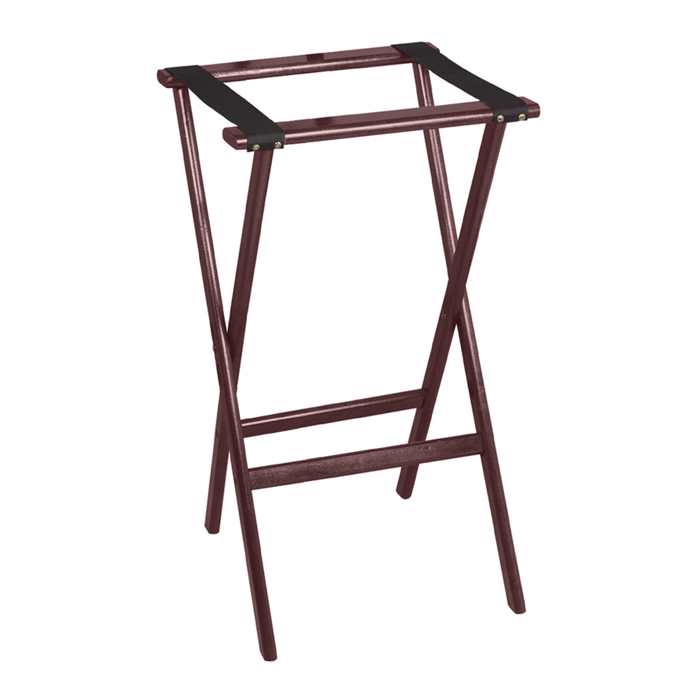 "Tomlinson 1016291 38"" Tray Stand, Molded Hardwood w/ Radius Edges & Corners, Red Mahogany Finish"