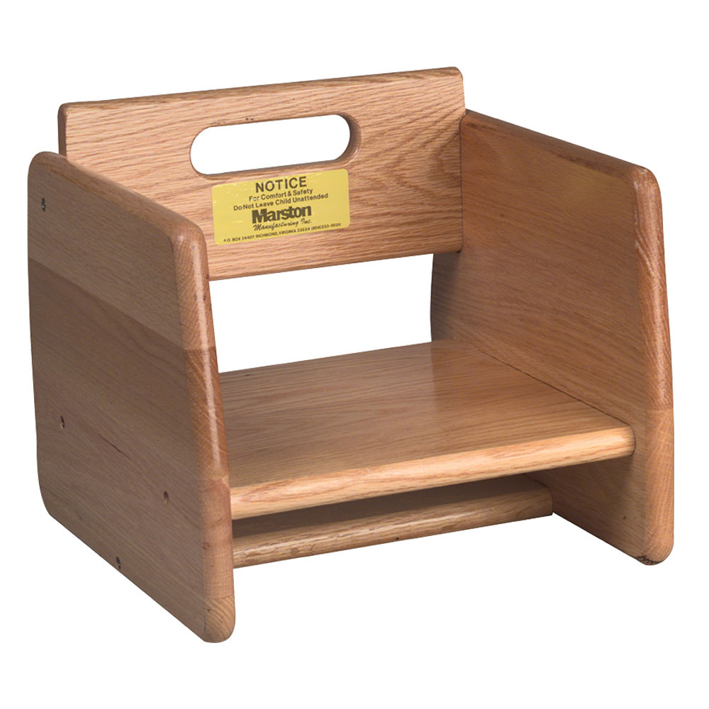 Tomlinson 1016296 Oak Booster Seat w/ 1-Piece Frame Construction, Stackable, Natural Finish