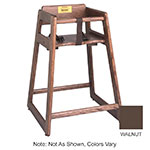 Tomlinson 1016310 Oak High Chair, Mortise & Tenon Frame, Large Contoured Seat, Walnut Finish