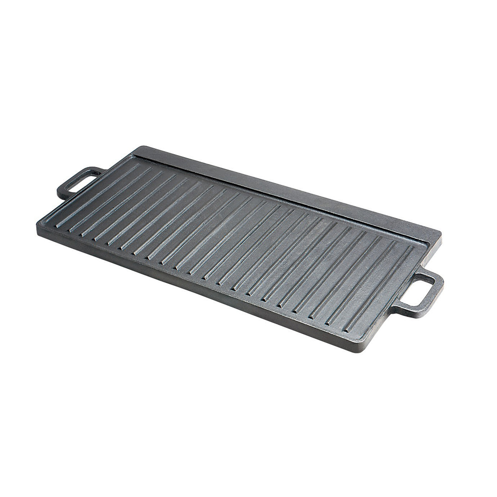 Tomlinson 1016904 Reversible Cast Iron Griddle w/ Handles, Ribbed/Flat, Indoor/Out