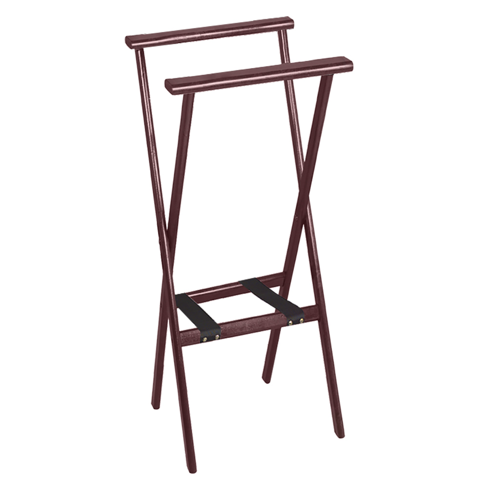 "Tomlinson 1017821 38"" Reach-Thru Tray Stand, Hardwood w/ Red Mahogany Finish"