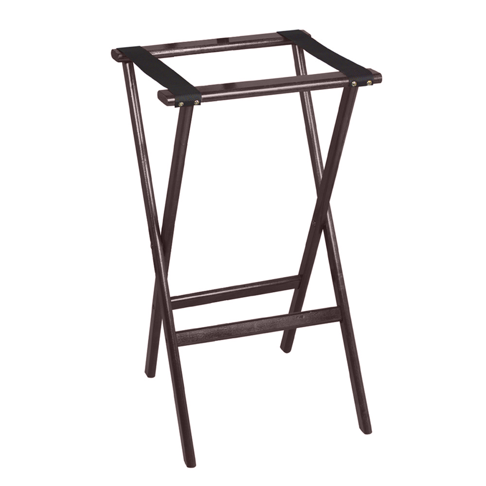 "Tomlinson 1017834 38"" Tray Stand, Hardwood w/ Radius Edges & Corners, Black Finish"