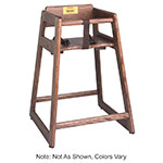 "Tomlinson 1018774 36"" Oak High Chair w/ Tenon Frame & Large Contoured Seat, Walnut Finish"