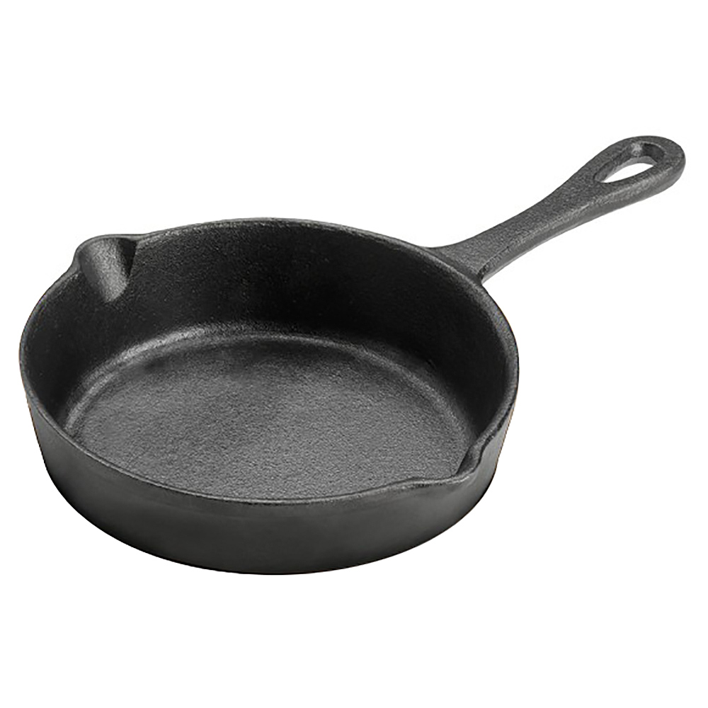 Tomlinson 1022998 Preseasoned Cast Iron Fry Pan w/ 2-Pour Spouts, 5.5-in Diam.