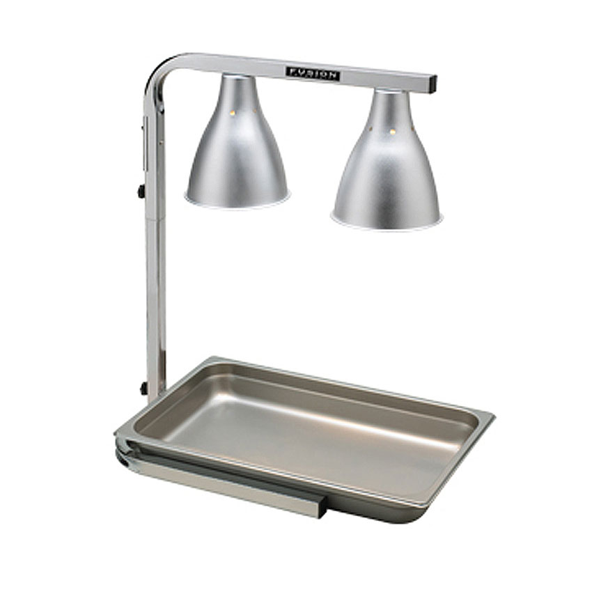 """Tomlinson 1023222 510FC 2-Bulb Heat Lamp, 12 x 20"""" Area, Chrome Frame"""