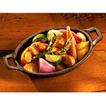 Tomlinson 1023653 12-oz Pre-Seasoned Cast Iron Oval Sizzle Server, 8.5 x 4-3/4""