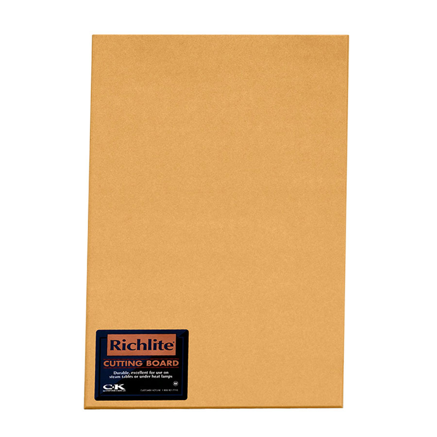 "Tomlinson 1031201 Square Edge Cutting Board, 12 x 18 x 1/4"", NSF"