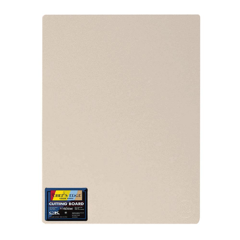 "Tomlinson 1034308 Colored Series Cutting Board, 18 x 24"", NSF, Beige"