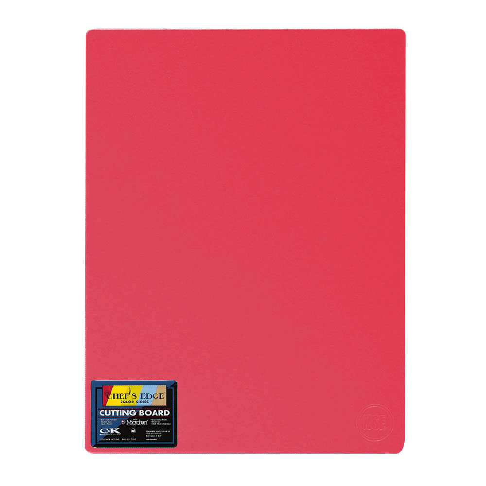 "Tomlinson 1034325 Colored Series Cutting Board, 12 x 18"", NSF, Red"