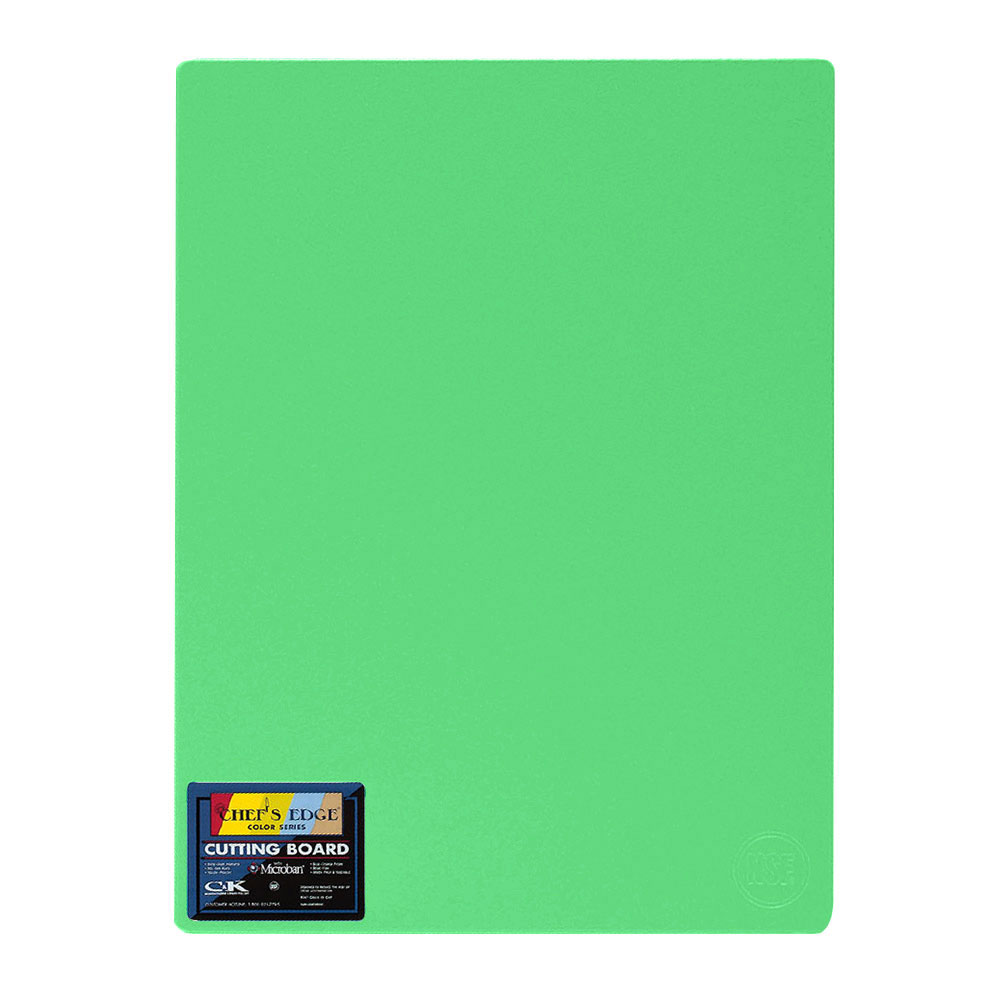 "Tomlinson 1034345 Colored Series Cutting Board, 12 x 18"", NSF, Green"