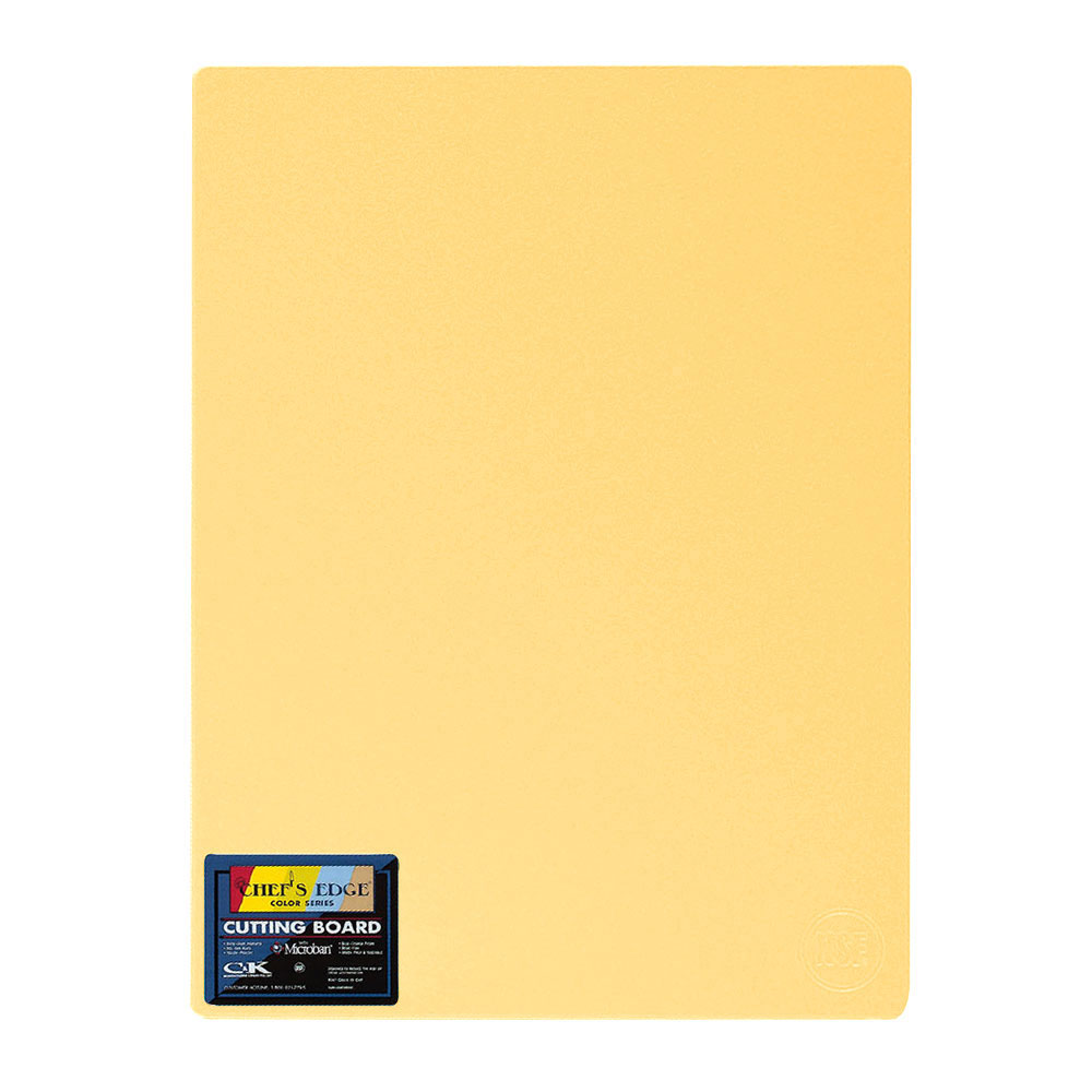 "Tomlinson 1034365 Colored Series Cutting Board, 12 x 18"", NSF, Yellow"