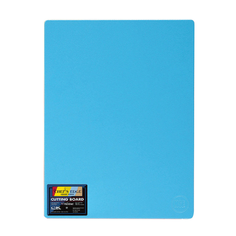 "Tomlinson 1034385 Colored Series Cutting Board, 12 x 18"", NSF, Blue"