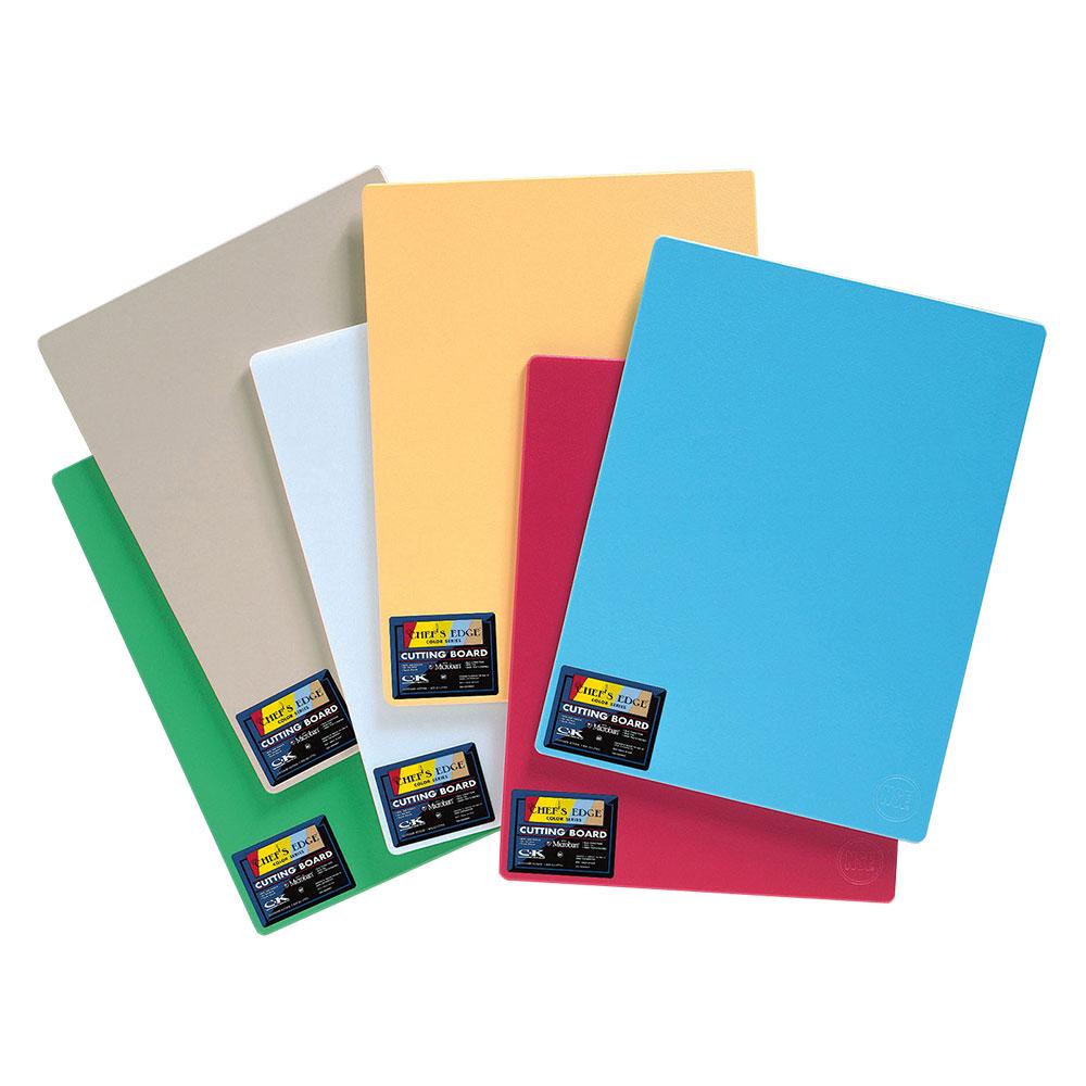 """Tomlinson 1034707 Colored Series Cutting Board, 15 x 20"""", Multi-Color"""