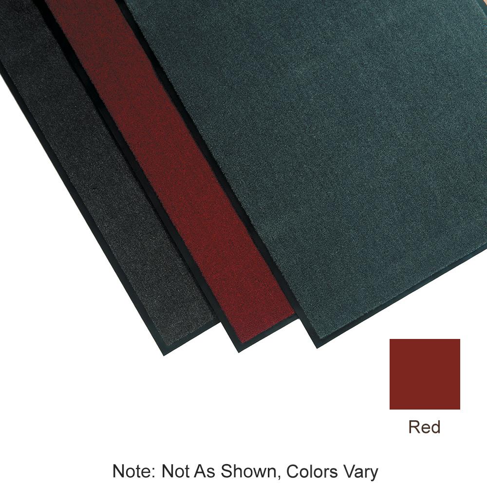 "Tomlinson 1035302 Olefin Carpet Mat w/ Vinyl Backing, 36 x 60"", Red"