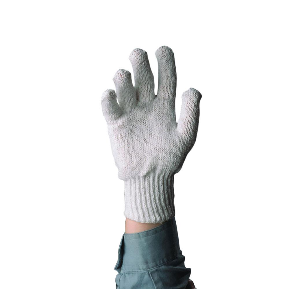 Tomlinson 1036211 Men Cotton Knit Gloves, Pre-Shrunk, White