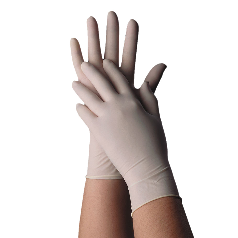 Tomlinson 1036342 Powdered Disposable Food Service Glove, Non-Latex, Large