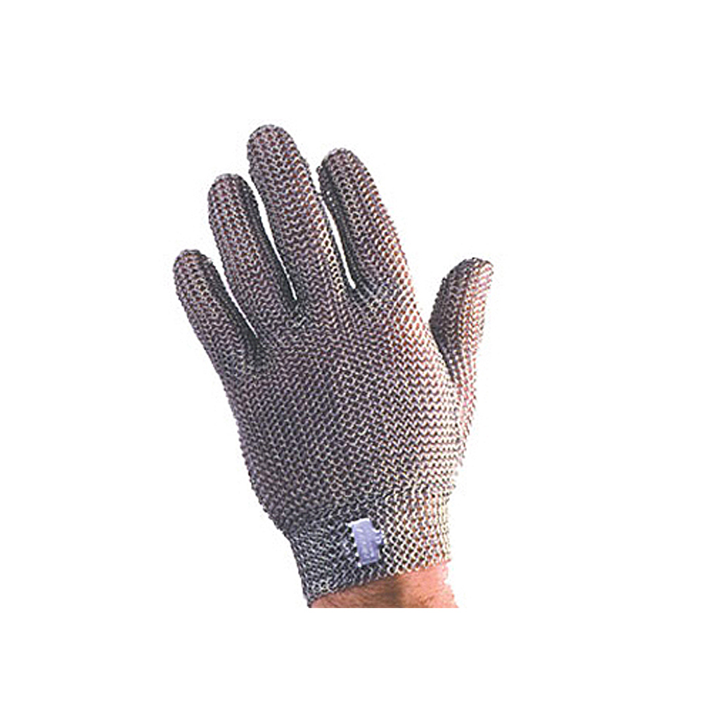 Tomlinson 1036465 Full Hand Metal Mesh Glove, 304L Stainless, Steel Closure, X-Small