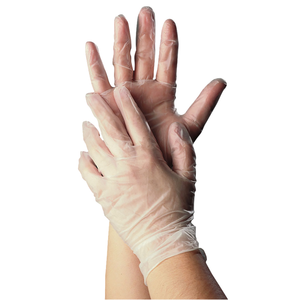 Tomlinson 1036623 Powder Free Disposable Food Service Glove, Vinyl, Large