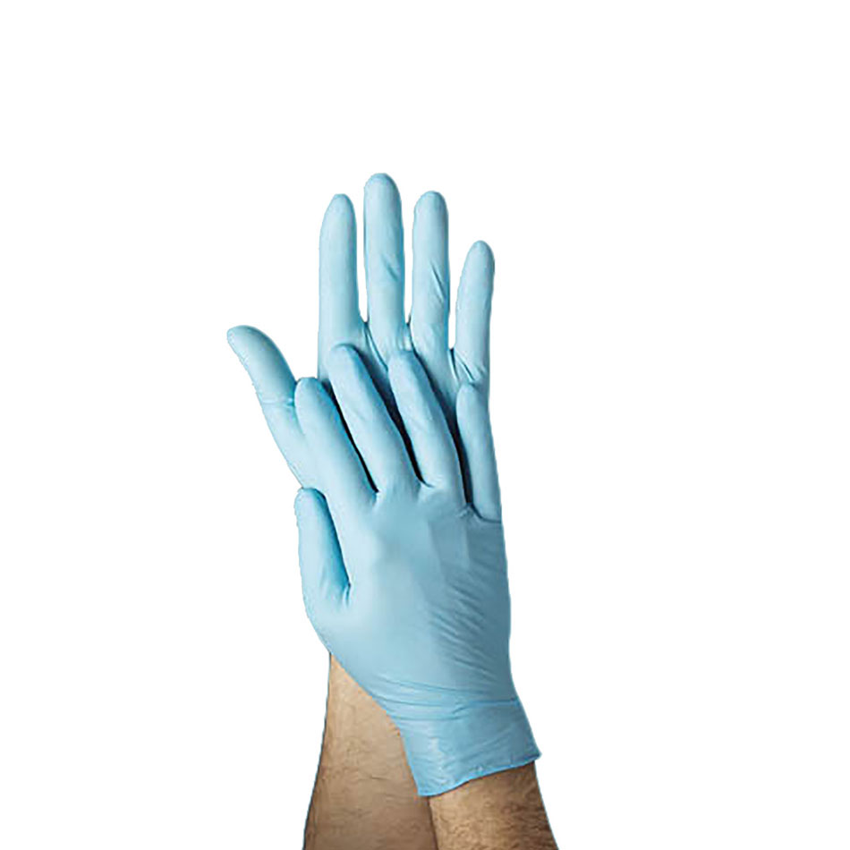 Tomlinson 1036881 4-ml Powder Free Disposable Food Service Glove, Blue, X-Large