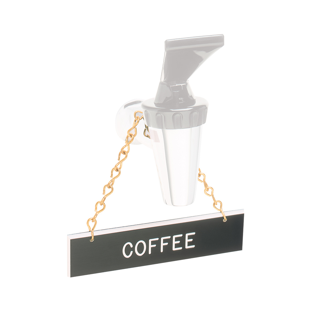 "Tomlinson 1912595 Hanging Sign w/ Solid Brass Chain - ""Coffee"", 1"" x 4"""