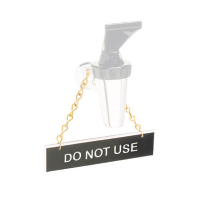 "Tomlinson 1912599 Hanging Sign w/ Solid Brass Chain - ""Do Not Use"", 1"" x 4"""